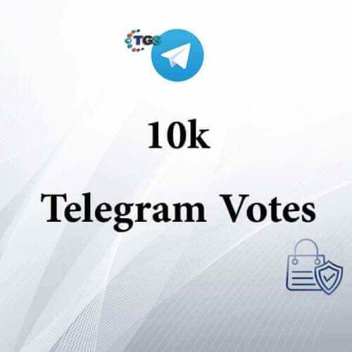 10000 Telegram votes