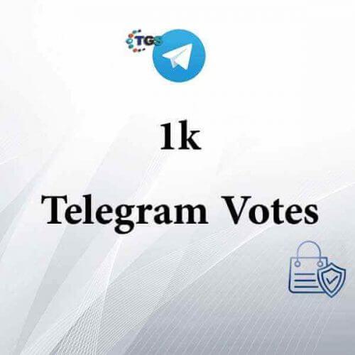 1000 Telegram votes