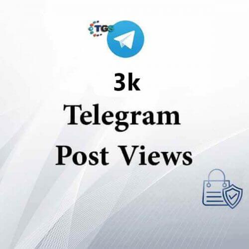 3k Telegram post views