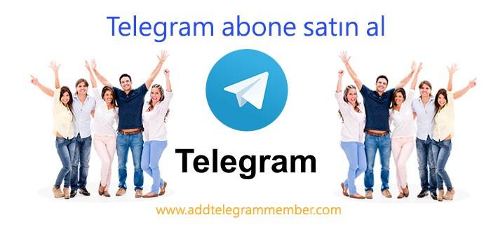 Telegram abone satın al