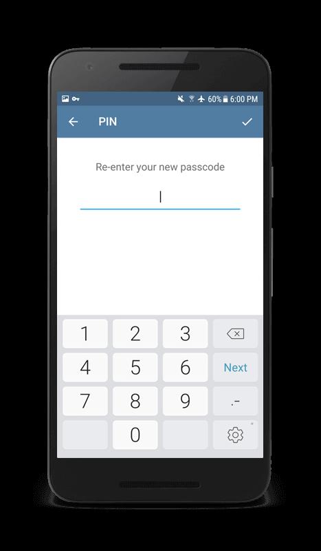 Re-enter password